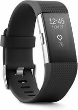 Fitbit Charge 2 Heart Rate + Activity Tracker, Black, Lge, Us Version Fb407Sbkl