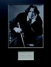 More details for oscar wilde signed autograph photo display