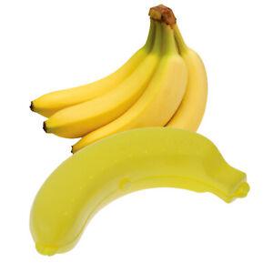 Bananenbox Bananenbose Lunchbox Aufbewahrungsbox Transportbox Vorratsdose gelb