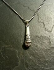 Microphone Mic Hip Hop Rap Music Necklace Pendant Charm Collectible Gift Present