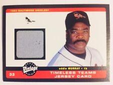 2002 Upper Deck Vintage Eddie Murray Timeless Teams Game Used Jersey Card Rare