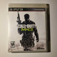 Call of Duty Modern Warfare 3 Sony PS3 2011 M-Mature Complete Tested/Working