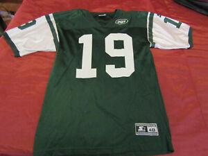 VTG 90's Starter NY Jets #19 Keyshaun Johnson Home Jersey Size 48 (L) USA Made