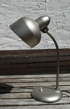 Antike 1920er Schreibtisch Arbeitsplatzlampe vernickelt Bauhaus Art Deco