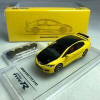 1/64 INNO64 IN64-FD2-YLSS Honda Civic Type-R FD2 Yellow Singapore Special