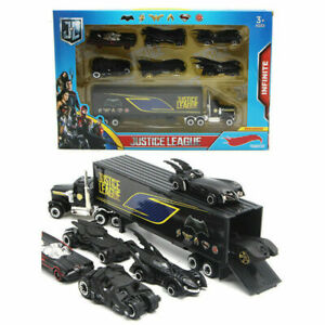 7 Black Truck Justice League Batman Flash Aquaman Wonder Woman Diecast Vehicle