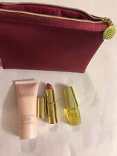 Estee Lauder BEAUTIFUL EDP Spray Mini, Lotion,Pure Color Lipstick Silk Bag 4 Pcs