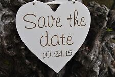 Save The Date Engagement Sign: Handmade With Wedding Date, Laser Etched