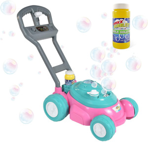 Sunny Days Entertainment Maxx Bubbles Bubble-N-Go Toy Lawn Mower with Refill