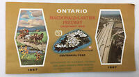Vintage Ontario Macdonald Cartier Freeway Highway 401 Map 1967 Brochure Signs