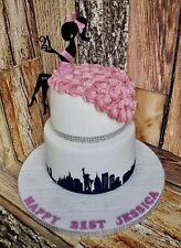 Elegant Lady Silhouette 2 Piece Cake Topper