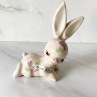 Vintage 1947 Delee Art Rabbit HUNNY BUN Handmade Pottery Hollywood, CA RARE