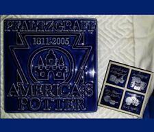 "PFALTZGRAFF TILE America's Potter Ltd. Edition to Staff in 2005 COBALT BLUE 4.5"""