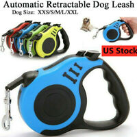 Dog Leash Retractable Walking Collar Automatic Traction Rope Small Pet 10/16FT