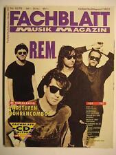FACHBLATT MUSIK MAGAZIN 1992 # 10 - R.E.M. PAT METHENY TOM WAITS RYUICHI SAKAMOT