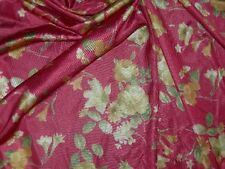 """Tricot fabric floral nightgown material+ extra free 4Y8""""x60"""" cranberry Satinique"""