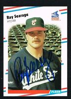 Ray Searage #409 signed autograph auto 1988 Fleer Baseball Trading Card