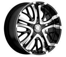 """22"""" wheels Black/machine  22X9.5  INCUBUS Paranormal 500 5LUG  5x114.3/120.65"""