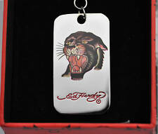 Authentic Ed Hardy Black Panther Pendant Dog Tag rare nice design man and woman
