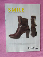 2013 Magazine Advertisement Page Featuring Ecco Boots Shoes Nice Ad