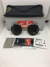 Ray Ban Round Metal Sunglasses 3447 001 50mm G-15  Green Lense