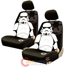 Star Wars Storm Trooper Front Car Seat Cover Set Auto Accessory with Head Covers