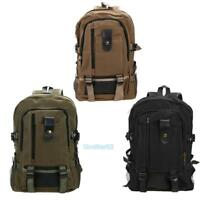 Men Canvas Backpack School Rucksack Vintage Satchel Shoulder Laptop Bag Travel