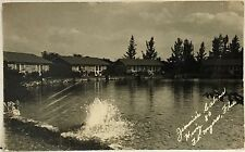 RPPC Fort Myers FL Real Photo Postcard ~ Jimmie's Cabins Hwy 80 ~ Lee County