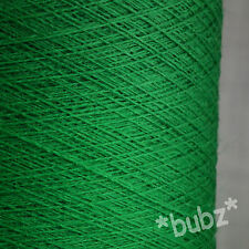 PURE MERINO WOOL YARN 2/30 EMERALD GREEN 500g CONE LACEWEIGHT 1 PLY MACHINE KNIT