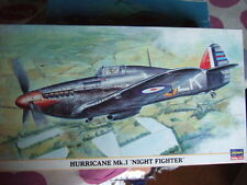 """1 48 scale HASEGAWA HURRICANE Mk I """" NIGHT FIGHTER"""" Kit N° 09494"""