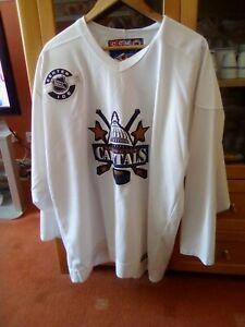CCM Washington Capitals White NHL Center Ice Jersey Shirt Size XL