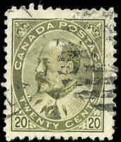 Canada Used 1904 20c F+ Scott #94 King Edward VII Stamp