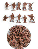 50 pcs Military Plastic Toy Soldiers Army Men Red 1:36 Figures 10 Poses