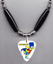 The Simpsons Bart Simpson Bartman Guitar Pick Necklace