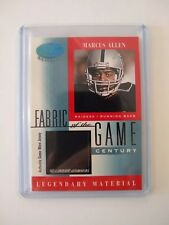 MARCUS ALLEN 2001 Leaf Certified Materials Fabric of the Game 19/21 Raiders SP