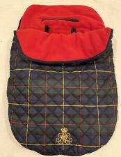 Ralph Lauren Plaid Baby Stroller Bunting Bag