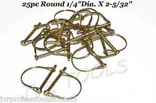"""25pc ROUND SAFETY PINS 1/4"""" CAMPER AWNING TRAILER HITCH PIN"""