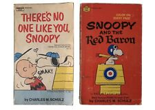Lot Of 2 Vintage 1960's/1970's Peanuts Snoopy Comics Paperback Books