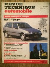 Revue Technique Automobile FIAT Uno Pop - 45 - 45S - 60S