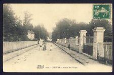 Carte Postale Ancienne Ecrite en 1912 LIMOURS (Essonne) Avenue des VERGES Nounou