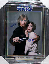 CARRIE FISHER MARK HAMILL SIGNED 16X20 PHOTO FRAMED STAR WARS PSA/DNA Y93486