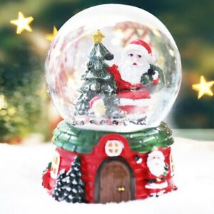 Christmas Crystal Transparent Music Ball Holiday Ornaments Child Gifts
