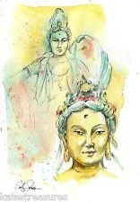 QuanYin Bodhisattva print from an original by Cathy Johnson Chinese art