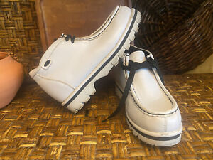 LUGZ NY LUG CO. White Leather Suede Lace Up Ankle Boots Size 7.5