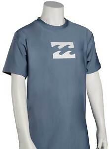 Billabong Boy's All Day Wave SS Surf Shirt - Blue Slate - New