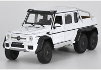 Welly 1:24 Mercedes Benz G63 AMG 6X6 Diecast Model Sports Racing Car Toy White