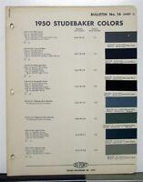 1950 STUDEBAKER CHAMPION COMMANDER LAND CRUISER STARLIGHT PAINT CHIPS DUPONT 8