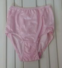 Pink Sheer Tricot Panties - Size 6 - 100% Nylon Body - Double Gusset
