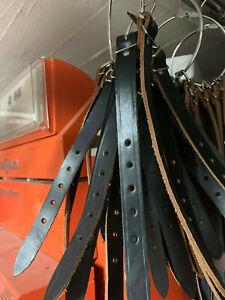Packriemen Kofferriemen Schnallenriemen echt Leder schwarz 2,5-3x20x300mm VEB