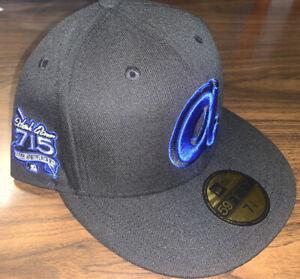 Exclusive Fitted Atlanta Braves Hank Aaron New Era SZ 7 3/8 25th Anniversary